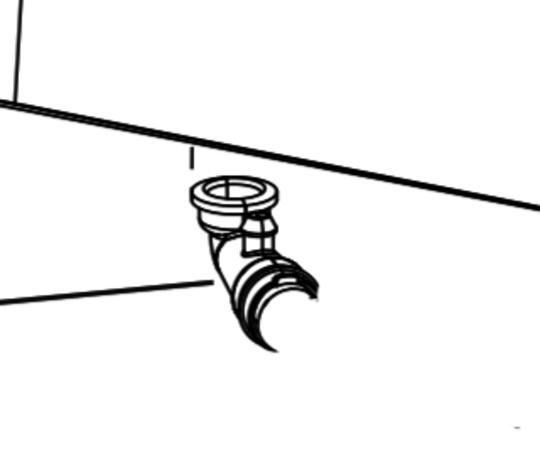 Fisher Paykel Washing Machine Elbow Nozzle Dispenser Hose WA7060G2,