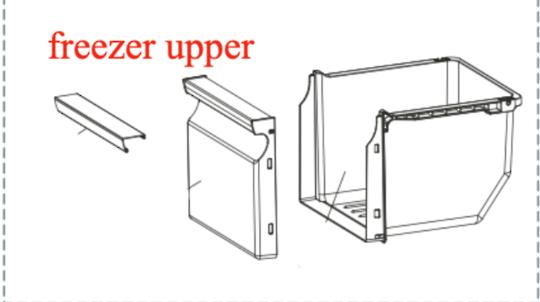 Samsung Freezer upper Drawer SRS583NLS,