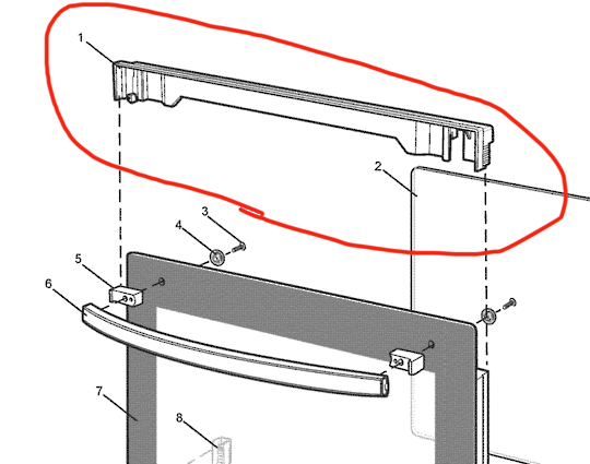 WESTINGHOUSE Simpson ElectroLux  DOOR upper trim  ,