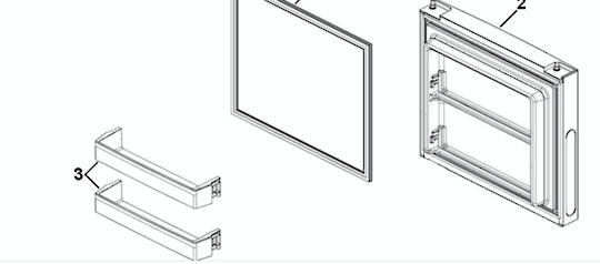 Haier Freezer Door Shelf hrf335fg, hrf-321fg, hrf-321fw, hrf335fs, HRF297FG, HRF-297FG,