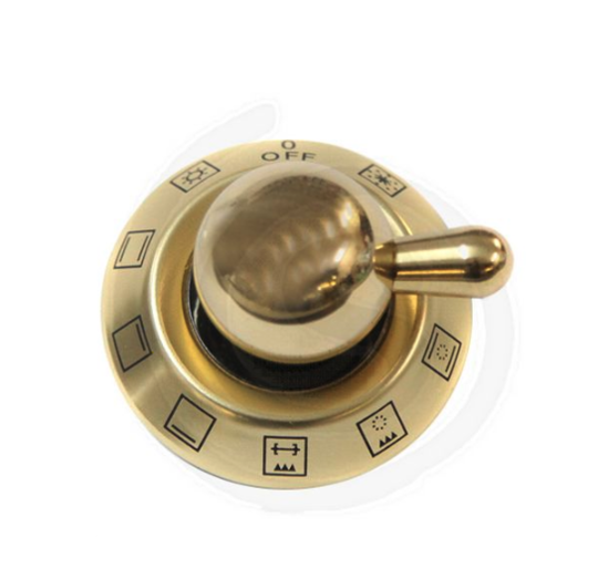 ILVE OVEN MODE SWITCH BRASS KNOB MAJESTIC NEW SERIES