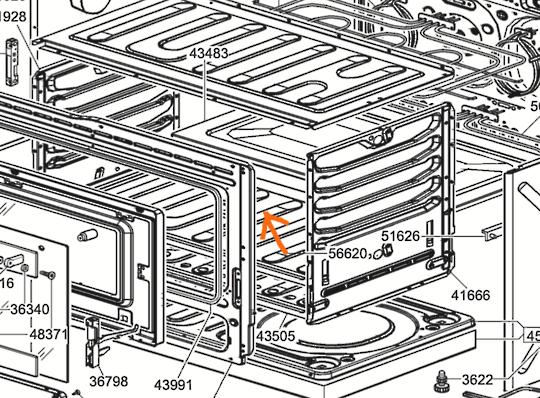Smeg Oven Bottom Panel , cover for lower bak element SNZ91MFX, suk91mf,