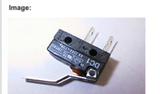 Fisher Paykel Dishdraw Tub Draw Microswitch DD601, DS601, DC1a-LGAC,