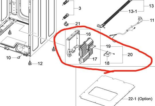 SAMSUNG WASHING MACHINE MAIN PCB Union  Assy WF0854W8E/XSA WF0854W8E1/XSA,