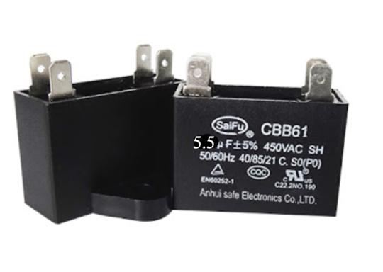 Universal Capacitor Assy 5.5Uf, 5.5 uf CBB61,