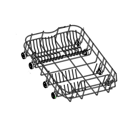 LOWER BASKET DW300XA, 450mm wide dishwasher