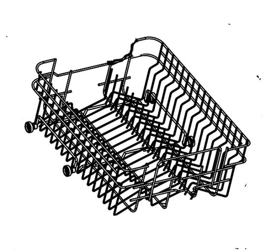 Delonghi Dishwasher Upper Basket DEDW45S, DEDw45w, and Omega DW300XA,
