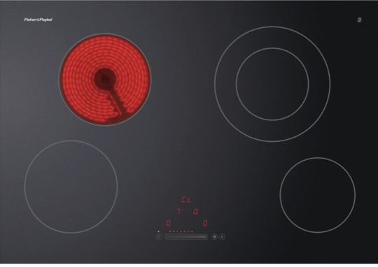 Fisher Paykel Induction Cooktop Top Glass Model CE754DTB1,