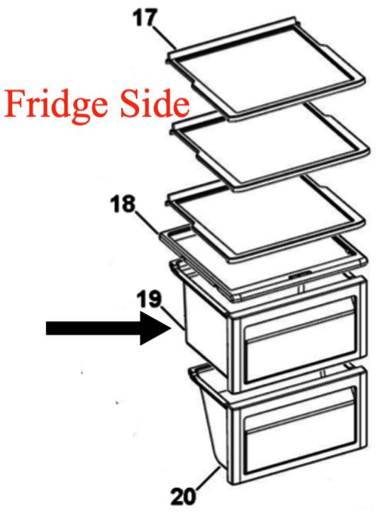 Haier Fridge Upper draw HSbs582aw,
