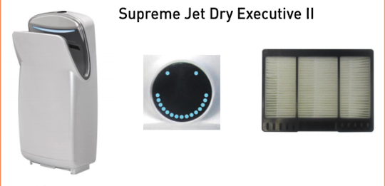 Jet Dry Executive II Hand Dryer Filter JDEXE2,  Pack of 2