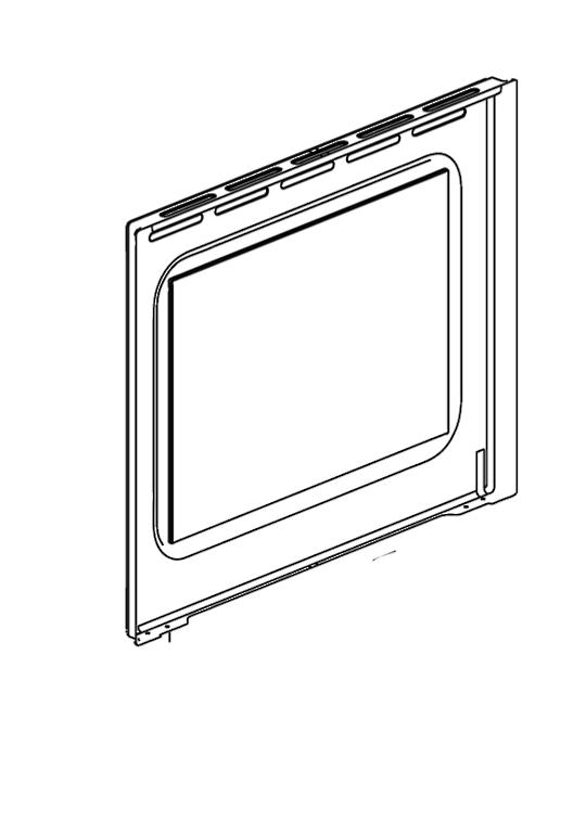 Blanco Oven Door Inner glass BOSE69X, E60SM,