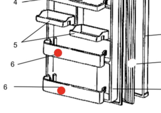 Mitsubishi Fridge Door Bottle Shelf  1st and 2nd from low MR-260R, MR-260S, MR-260T, MR-260X, MR-260U, MR-260B, MR-260C, *02134