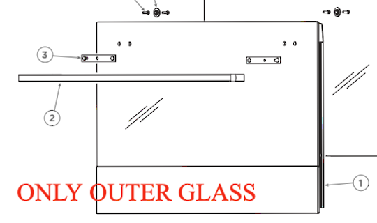 Fisher Paykel single or Double Oven OUTER Door Glass AND PANEL BEHIND IT OB90S9MEPX2 80824-B, *576PP