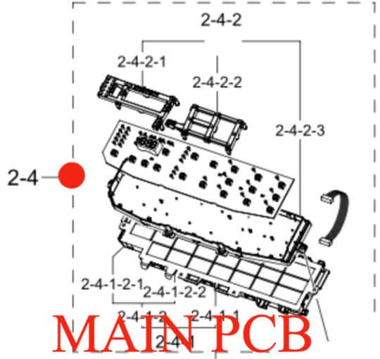 SAMSUNG WASHING MACHINE MAIN PCB  CONTROLLER FOR WA85N6750BW,