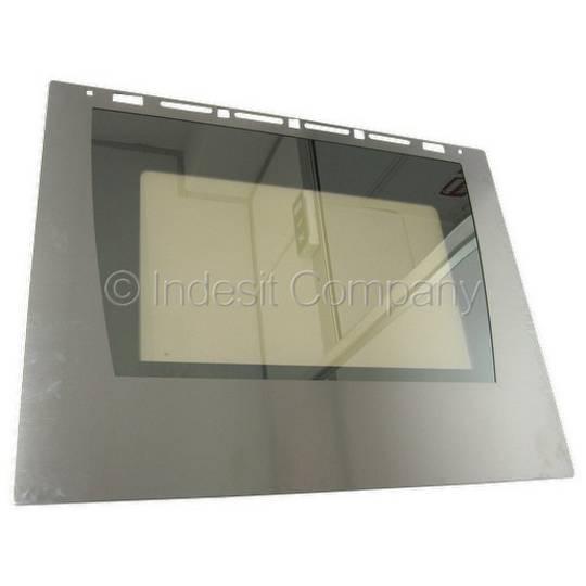 Indesit Oven Outer Door Glass FM37KIXNZ, FE20, FE21, FE30, FM10, FM29, FM37, FV10K
