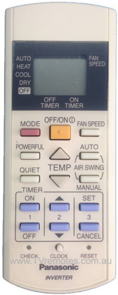 Panasonic Air condition and Heat Pump Remoter Controller CS-E15DTEW,