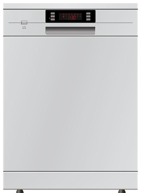 Freestanding Dishwasher by Eurotech  ED-D60CM-14P WHITE 60CM WIDE