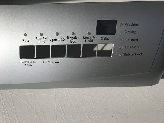 Simpson Westinghouse Dishwasher Control panel 52c870sk, silver