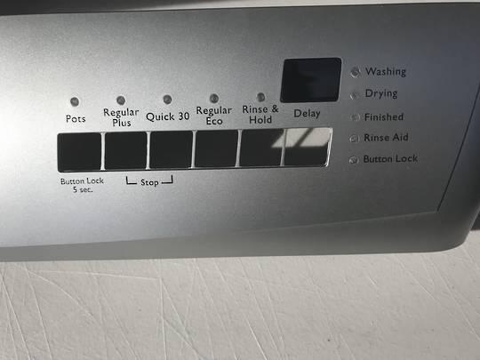 Simpson Westinghouse Dishwasher Control panel 52c870sk, silver
