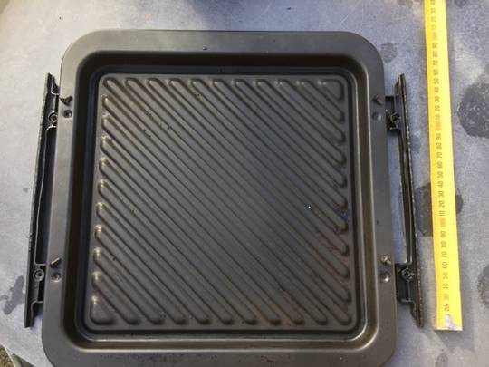 panasonic Microwave enmal tray nn-DS596B, P7 with side rail.