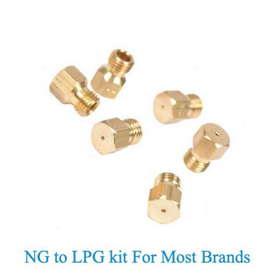 Nozzle gas Jet for natural gas to Lpg Oven Cooktop set for 6  burner pack , .