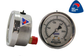 63mm SS Case Rear Entry Pressure Gauge