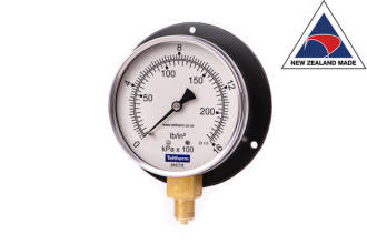 100mm Wall Mount Bottom Entry Gauge