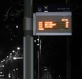 route signs - vehicle technology