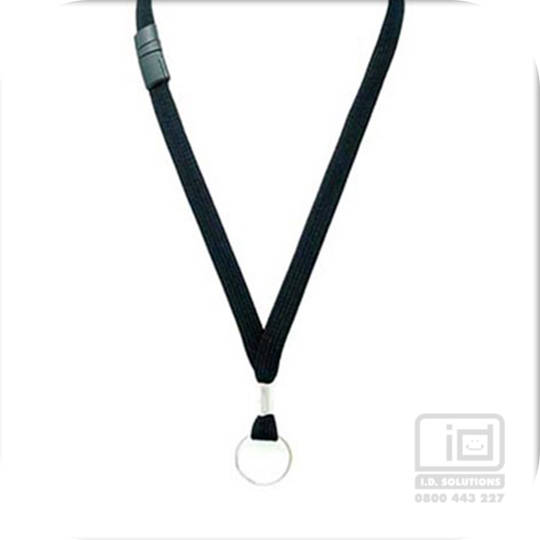 Black Tube Lan with BRKWY Keyring  - 12mm wide