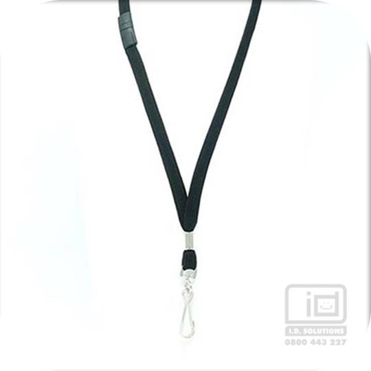 12 mm black flat breakaway  with a swivel( Lam)