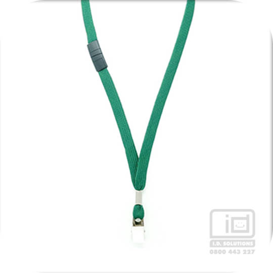 Green Tube Lan with BRKWY Bulldog Clip - 12mm wide