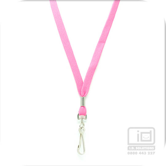 Pink Tube Lan with Swivel Hook - 12mm wide