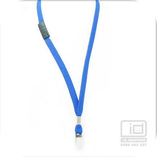 Royal Blue Tube Lan with BRKWY Bulldog Clip - 12mm wide