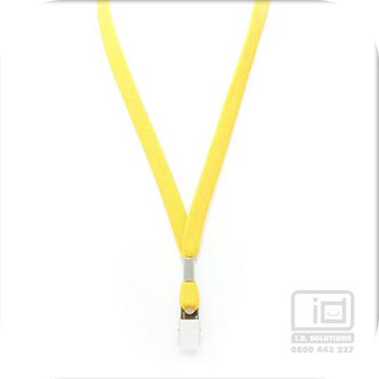 Yellow Tube Lan with Bulldog Clip - 12mm wide