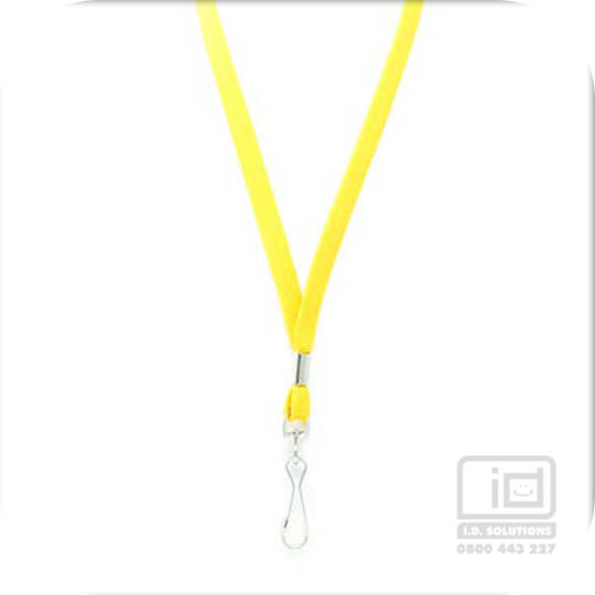 Yellow Tube Lan with Swivel Hook - 12mm wide