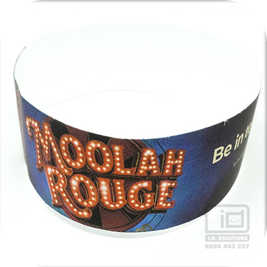 Custom Printed Tyvek Wristbands - 25mm