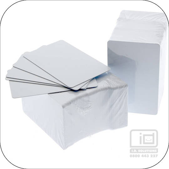 Biodegradable PVC Blank Cards White