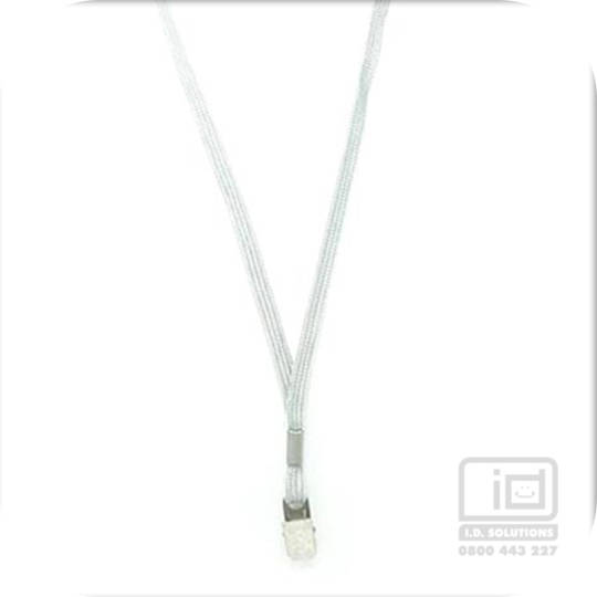 Grey Tube Lan with Bulldog Clip - 8mm wide