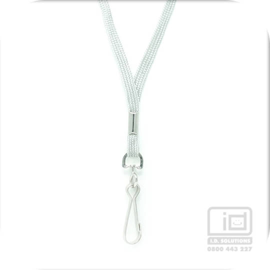 Grey Tube Lan with Swivel Hook - 8mm wide