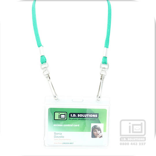 Kelly Green Tube Lan with 2 Swivel Hooks - 8mm wide