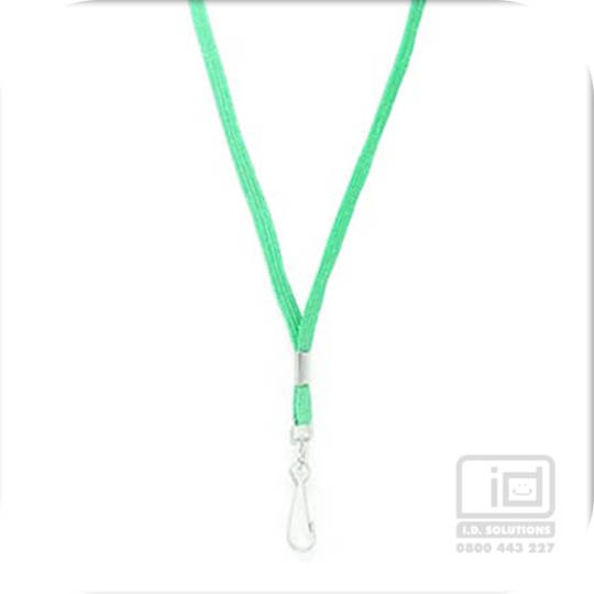Kelly Green Tube Lan with Swivel Hook - 8mm wide