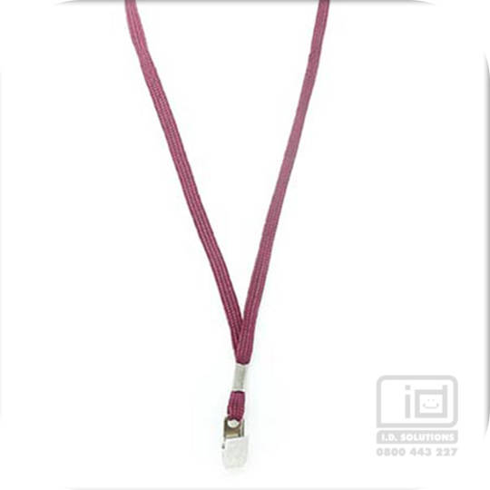 Maroon Tube Lan with Bulldog Clip - 8mm wide