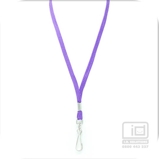 Purple Tube Lan with Swivel Hook - 8mm wide