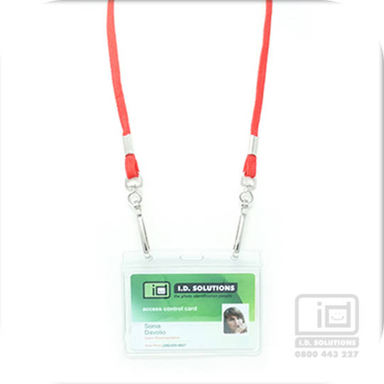 Red Lan with 2 Swivel Hooks - 8mm wide