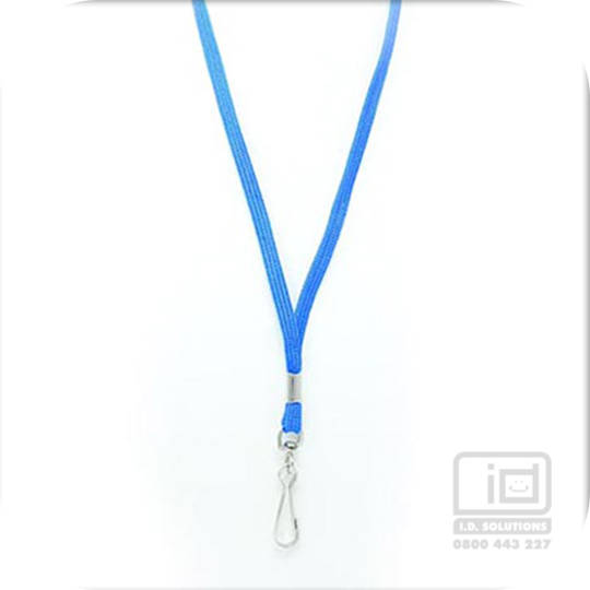 Royal Blue Tube Lan with Swivel Hook - 8mm wide