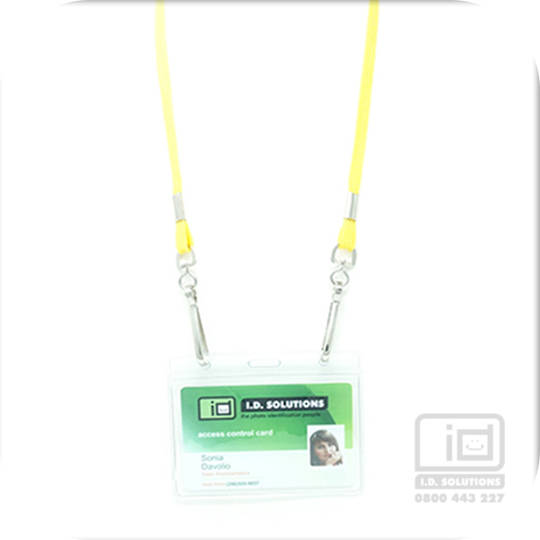 Yellow Tube Lan with 2 Swivel Hooks - 8mm wide