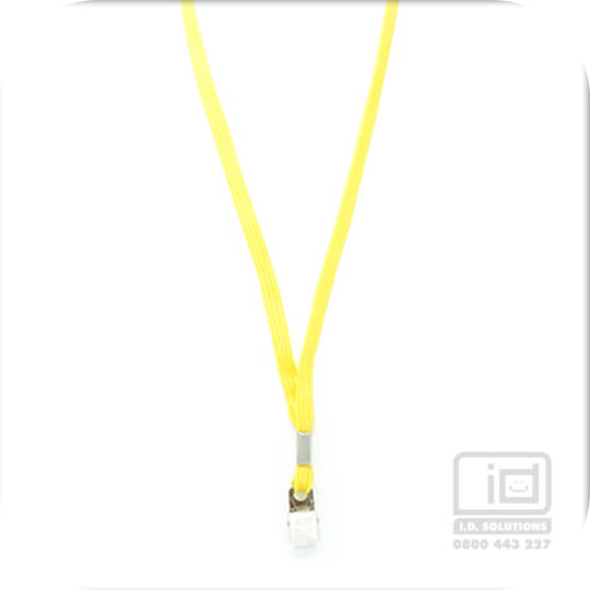 Yellow Tube Lan with Bulldog Clip - 8mm wide
