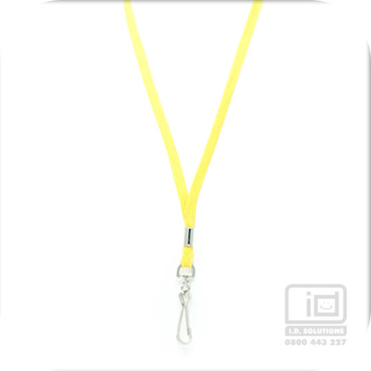 Yellow Tube Lan with Swivel Hook - 8mm wide