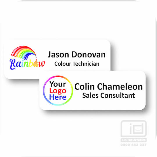 PVC Name Badge with Pin Clip