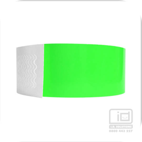 Genesis neon lime wristbands